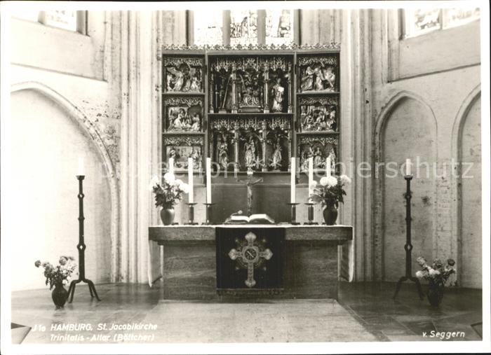 Hamburg St Jacobi Kirche Trinitatis Altar Kat. Hamburg