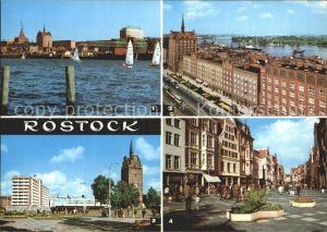 Rostock Mecklenburg Vorpommern Stadthafen Interhotel Warnow Kroepeliner Tor Lange Strasse Kroepeliner Strasse Kat. Rostock