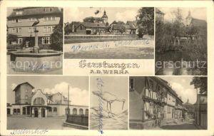 Gerstungen Werra Kirche Apotheke Bahnhof  Kat. Gerstungen
