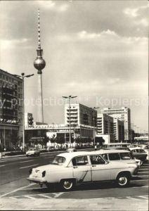Berlin Karl Marx Allee Fernseh UKW Turm  Kat. Berlin
