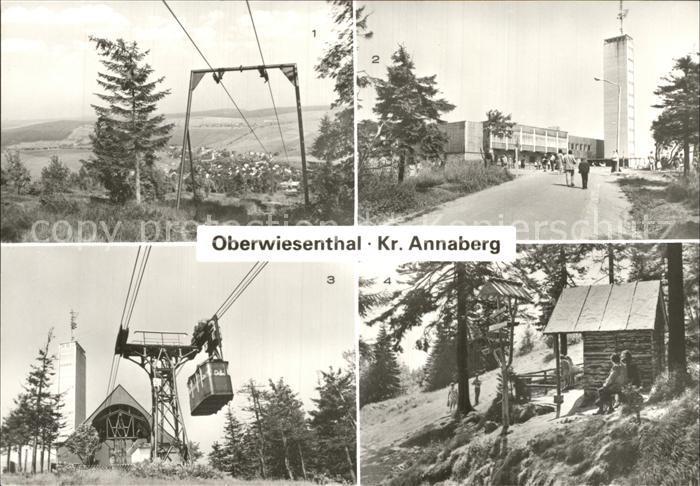 Oberwiesenthal Erzgebirge Fichtelberg Fichtelberghaus Schwebebahn Eckbauerhuette  Kat. Oberwiesenthal