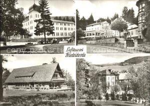Friedrichroda Sanatorium Tannenhof FDGB Heim Klosterberg Heuberghaus  Kat. Friedrichroda