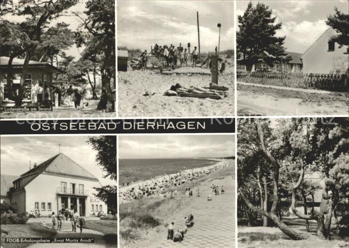 Dierhagen Ostseebad Ladenstrasse FDGB Erholungsheim Ernst Moritz Arndt  Kat. Dierhagen Ostseebad