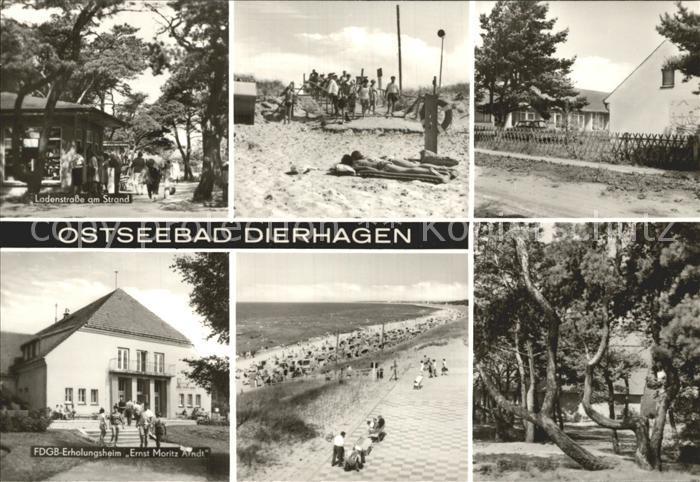 Dierhagen Ostseebad FDGB Erholungsheim Ernst Moritz Arndt Ladenstrasse  Kat. Dierhagen Ostseebad