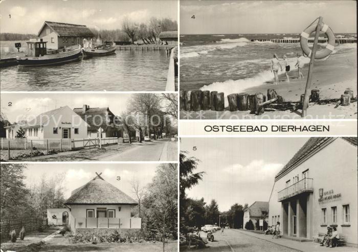 Dierhagen Ostseebad Bootshafen Strand FDGB Erholungsheim Ernst Moritz Arndt  Kat. Dierhagen Ostseebad