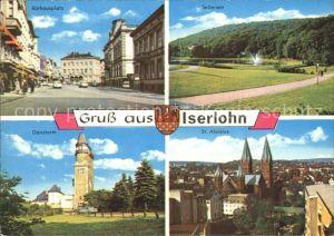 Iserlohn Danzturm Rathausplatz Seilersee St. Aloisius  Kat. Iserlohn