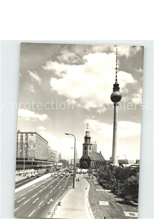 Berlin Fernsehturm und Marienkirche Kat. Berlin