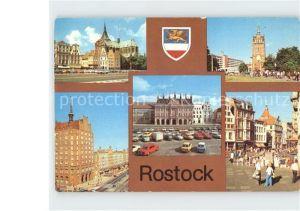 Rostock Mecklenburg Vorpommern Kroepeliner Strasse und Tor Lange Strasse Rathaus Kat. Rostock