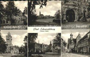 Bad Schmiedeberg Ferienheim Bergkeller Rathausportal Schoene Aussicht FDGB Kurhaus Au Tor Kat. Bad Schmiedeberg Duebener Heide