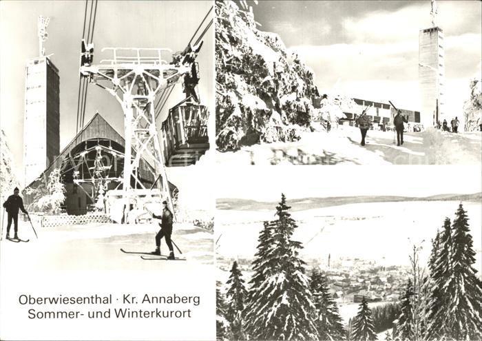 Oberwiesenthal Erzgebirge Fichtelberghaus Schwebebahn Aussichtsturm Kat. Oberwiesenthal