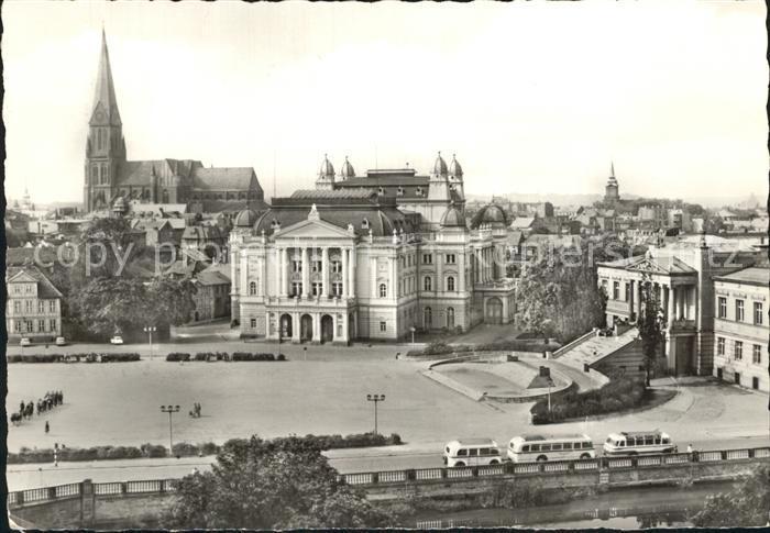 Schwerin Mecklenburg Alter Garten Staatstheater Museum Und Dom Kat