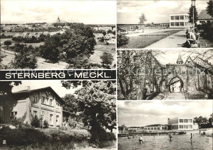 Sternberg Mecklenburg Panorama Landambulatorium Konsum Strandgaststaette Muehlentor Kat. Sternberg Mecklenburg