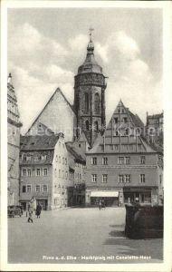 Pirna Marktplatz mit Canaletto-Haus / Pirna /Saechsische Schweiz-Osterzgebirge LKR