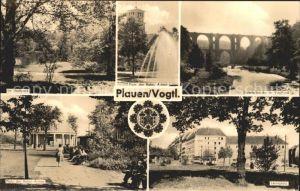 Plauen Vogtland Stadtpark Platz der Roten Armee Elstertalbruecke im Vogtl. Leninplatz Kat. Plauen