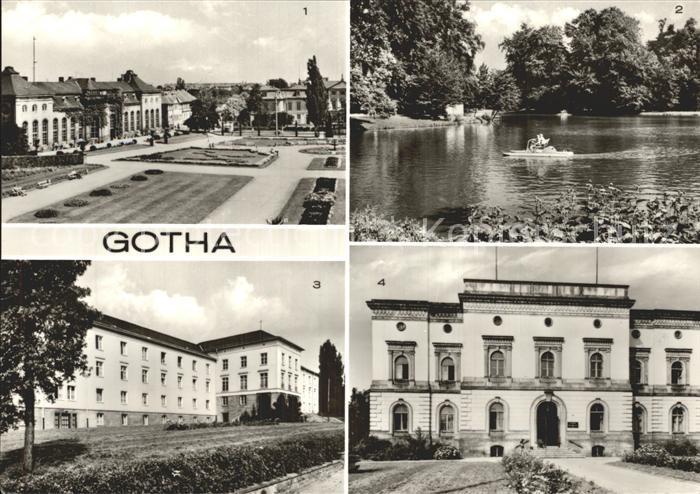 Gotha Thueringen Orangerie Gondelteich Fachschule fuer Finanzwirtschaft Kat. Gotha