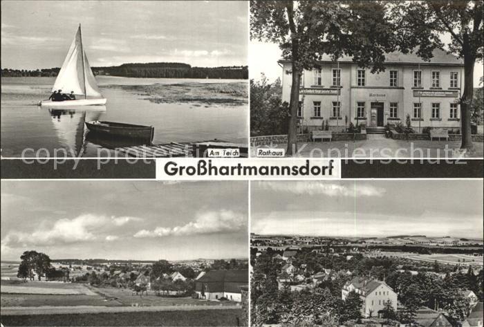 Grosshartmannsdorf Am Teich Rathaus Ortsansicht Kat. Grosshartmannsdorf