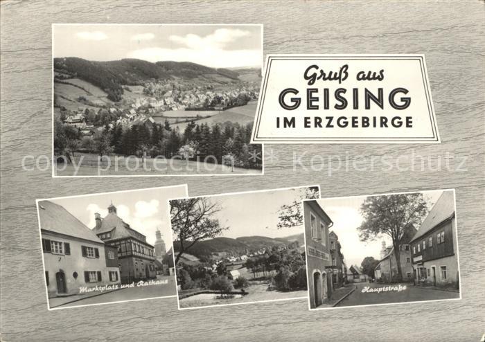 Geising Erzgebirge Hauptstrasse Marktplatz Rathaus  Kat. Geising Osterzgebirge