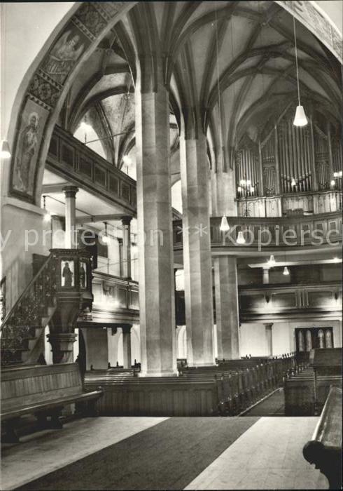 Sayda Kirche Inneres  Kat. Sayda