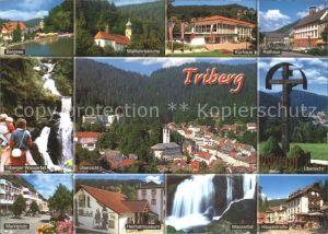 Triberg Schwarzwald Rathaus Wallfahrtskirche Marktplatz  Kat. Triberg im Schwarzwald