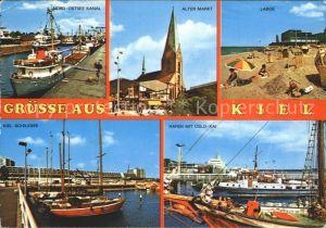 Kiel Laboe Alter Markt Nord Ostsee Kanal Schilksee  Kat. Kiel