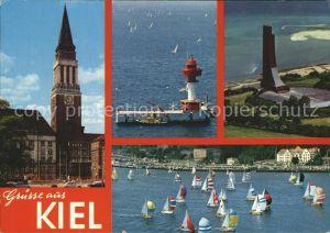 Kiel Segelschiffe Fliegeraufnahme Leuchtturm Laboe Kat. Kiel