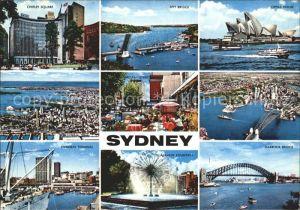 Sydney New South Wales Opera House Spit Bridge Harbour Bridge Overseas Terminal  Kat. Sydney