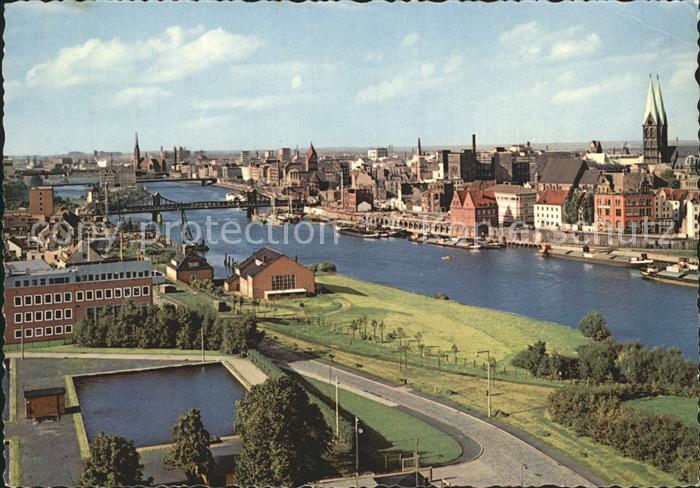 Bremen Weser Teilansicht  Kat. Bremen