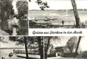 Storkow Mark Schleuse Storkower See Karlslust Eingang zur Burg Kat. Storkow Mark
