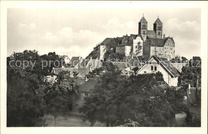 Quedlinburg Schloss und Dom 1000jaehrige Stadt Kat. Quedlinburg