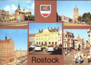 Rostock Mecklenburg Vorpommern Ernst Thaelmann Platz Kroepeliner Tor Lange Strasse Rathaus Kroepeliner Strasse Kat. Rostock
