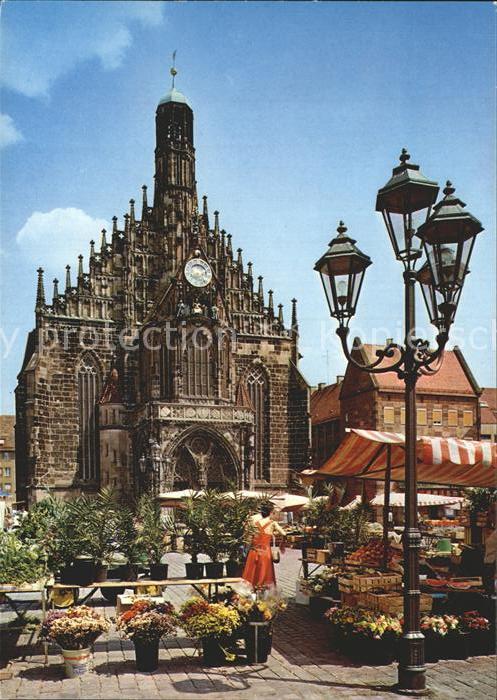 alte postkarte n rnberg hauptmarkt markt market frauenkirche mit ger st march postcard cpa ak. Black Bedroom Furniture Sets. Home Design Ideas