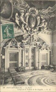 Fontainebleau Seine et Marne Le Palais Detail de la Tribune de la Chapelle Kat. Fontainebleau