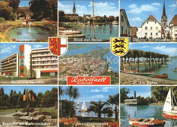 Radolfzell Bodensee Stadtgarten Hafenpartie Obertor Muenster