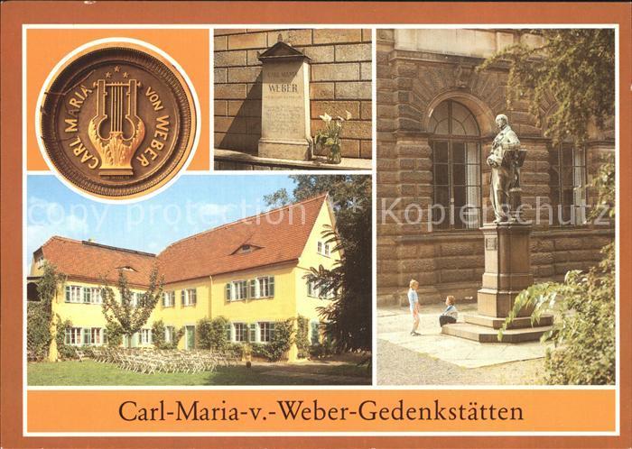 Dresden Carl Maria von Weber Gedenkstaetten Kat. Dresden Elbe