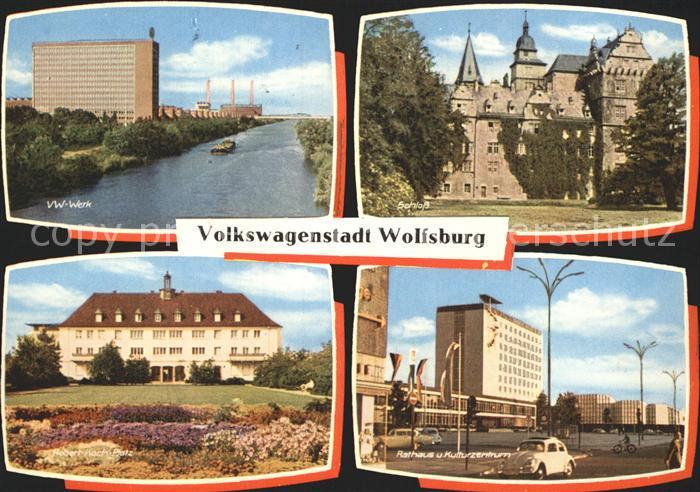 Wolfsburg VW Werk Schloss Robert Koch Platz Rathaus Kulturzentrum Kat. Wolfsburg