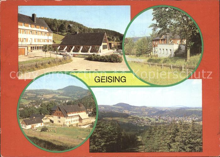 Geising Erzgebirge Erholungsheim Erich Weinert Schwimmhalle Jugendherberge Margarete Walter Totalansicht Kat. Geising Osterzgebirge