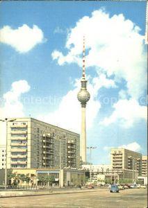 Berlin Karl Marx Allee UKW und Fernsehturm Kat. Berlin