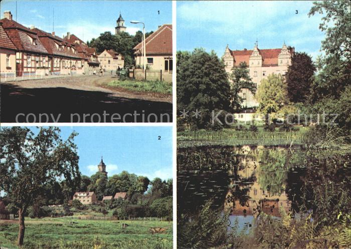 Boitzenburg Boitzenburger Str Teilansicht Schlossblick Kat. Boitzenburger Land