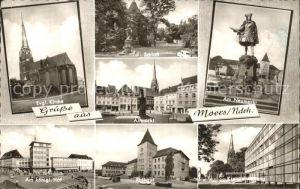 Moers Kirche Schloss Altmarkt Neumarkt Denkmal Koeniglicher Hof Rathaus Kreisverwaltung Gebaeude Kat. Moers
