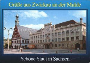 Zwickau Sachsen Historische Stadt an der Mulde Gewandhaus Rathaus Kat. Zwickau