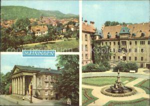 Meiningen Thueringen uebersicht Theater Schlosshof Brunnen Kat. Meiningen