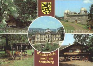 Sonneberg Thueringen Wanderziele Lutherhaus Spielzeugmuseum Sternwarte Tiergehege Blockhuette Kat. Sonneberg