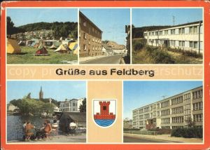 Feldberg Mecklenburg Campingplatz Huettenberg FDGB Erholungsheime Haussee Hans Fallada Schule Kat. Feldberger Seenlandschaft