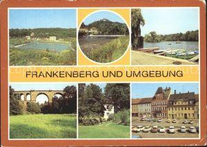 Frankenberg Sachsen Freibad Zschopau Sachsenburg Schilfteich Eisenbahnbruecke Luetzeltal Kurheim Luetzelhoehe Platz der Einheit Kat. Frankenberg Sachsen
