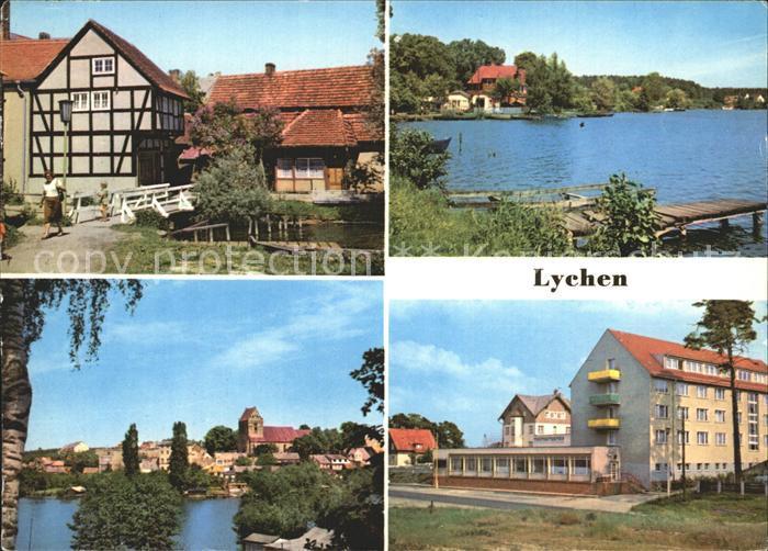 Lychen Malerwinkel Oberpfuhlsee Stadtsee FDGB Erholungsheim Bertolt Brecht Kat. Lychen