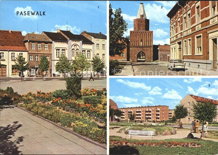 Pasewalk Mecklenburg Vorpommern Ernst Thaelmann Platz Muehlentor Platz der Aufbauhelfer Kat. Pasewalk