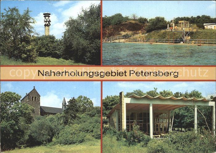 Petersberg Halle Bergbad Klosterkirche Fersehturm Pavilon Kat. Petersberg Halle
