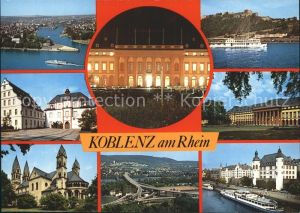 Koblenz Rhein Schiffsanlegestelle Panorama Rhein Kat. Koblenz