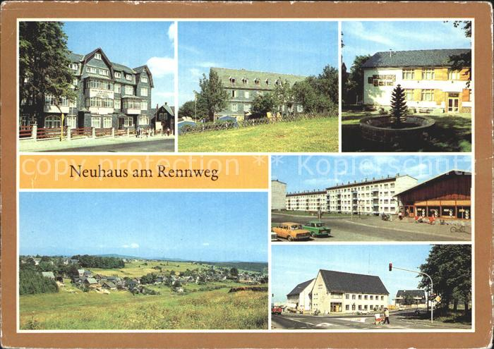 Neuhaus Rennweg Erholungsheim Ernst Thaelmann Leuna Werke Walter Ulbricht Jugendherberge  Kat. Neuhaus Rennweg