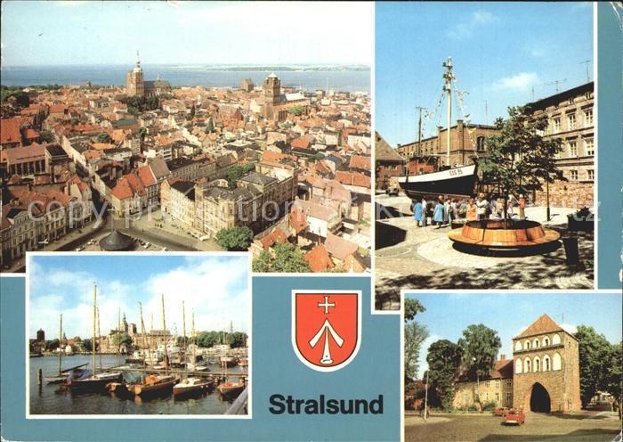Stralsund Mecklenburg Vorpommern 17 m Kutter Meeresmuseum Hafen Kniepertor  Kat. Stralsund